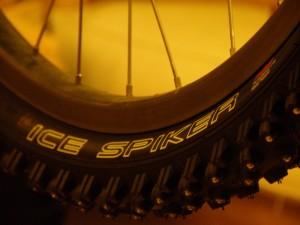 Ice Spiker logo on a tyre