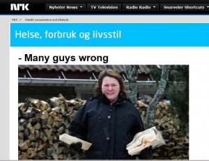Google mistranslation of an NRK webpage