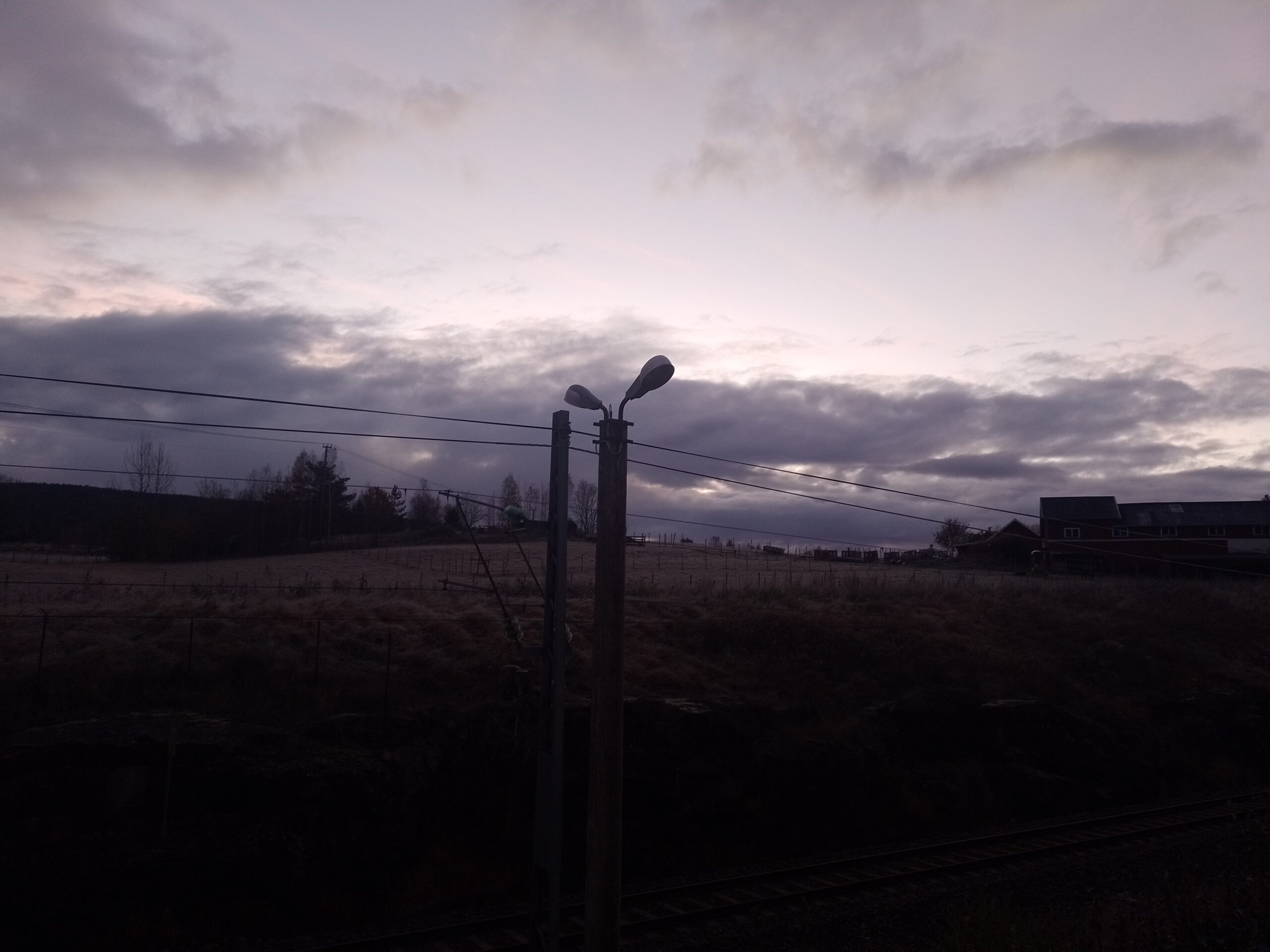 Grey clouds in the morning